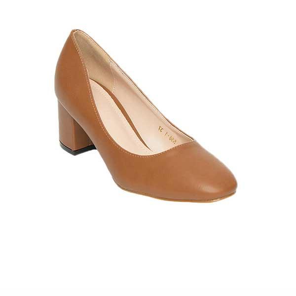 Giày cao gót đế vuông da trơn SG598-1BR