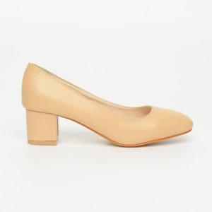 Giày nữ cao gót đế vuông thô da trơn SG168-1ABE