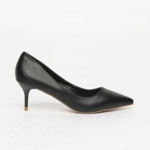 Giày gót nhọn da trơn 5cm SG1229-1BA