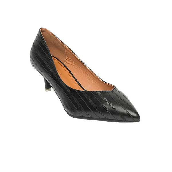Giày nữ đế cao dập vân kẻ sọc SG316-30BA