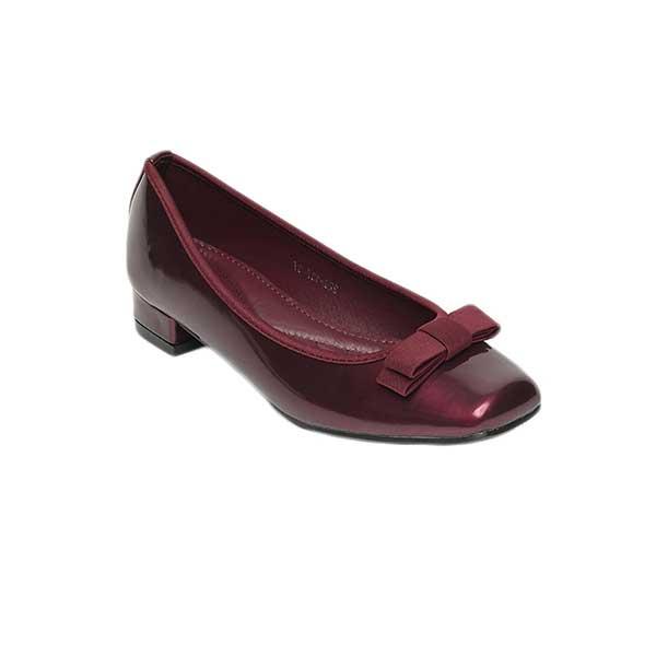 Giày cao gót đế vuông màu đỏ mận SG229-137MA