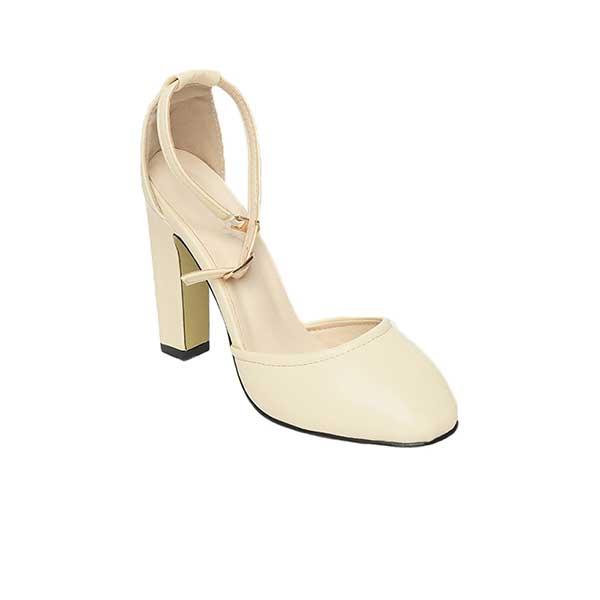Giày sandal cao gót nữ màu kem SG288-18AP