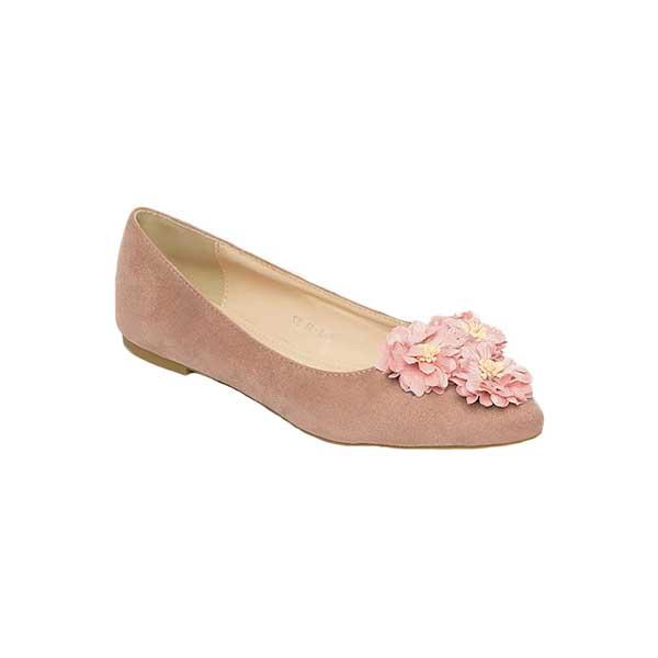 Giày bệt nữ mũi nhọn đính hoa SG813-1BPI
