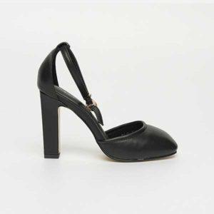 Giày sandal nữ cao gót đen quyền quý SG288-18BA