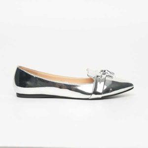 Giày bệt mũi nhọn màu ánh bạc SG217-75SI
