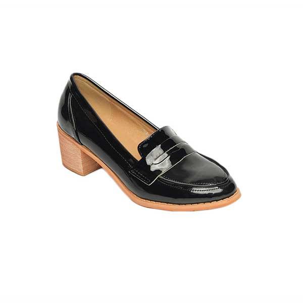 Giày loafer nữ cao gót đế vuông 5cm SG3128-1BA