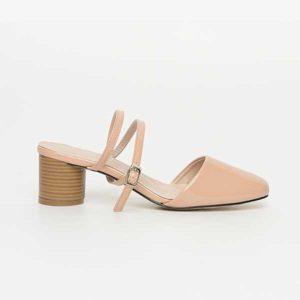 Sandal cao gót nữ màu nude SG9663-16AP