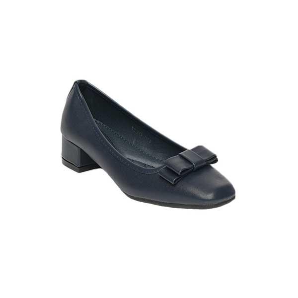 Giày nữ cao gót đế vuông đính nơ SG8311-43ABL