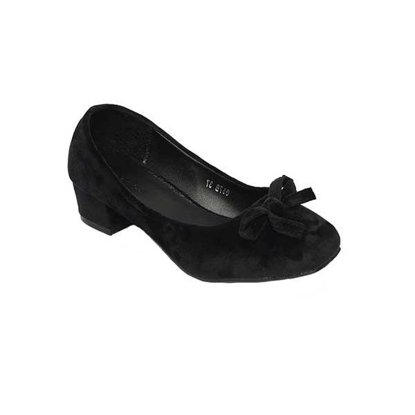 Giày cao gót nhung đen đế vuông SG057BBA