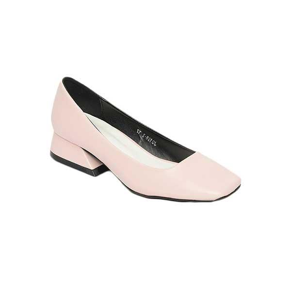 Giày cao gót đế vuông da mềm SGJ0158-3PI