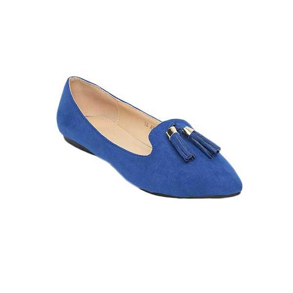 Giày búp bê nhung mũi nhọn gắn quả chuông SG217-42ABL