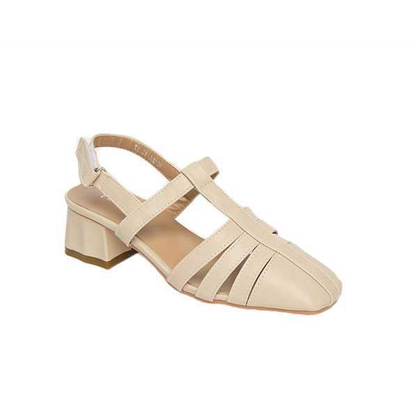 Sandal nữ quai hậu đế vuông SG1612-13BE