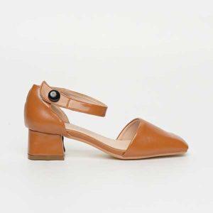 Sandal đế vuông nữ bít mũi SG1612-19YE