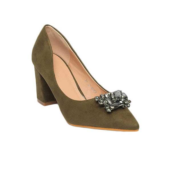 Giày cao gót đế vuông đính đá SGW326-22GR