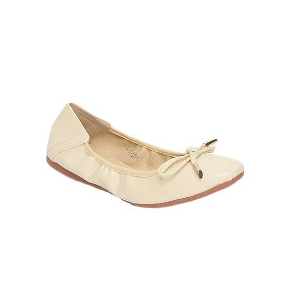 Giày búp bê nữ viền chun màu be SGA389-99BE
