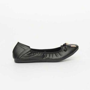Giày bệt nữ viền bò chun đen SGA389-99BA