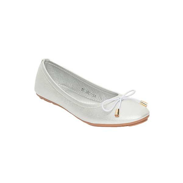 Giày bệt nơ màu bạc SGA811-36ESI