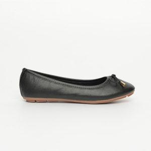 Giày bệt nữ màu đen đính nơ SGA811-36EBA