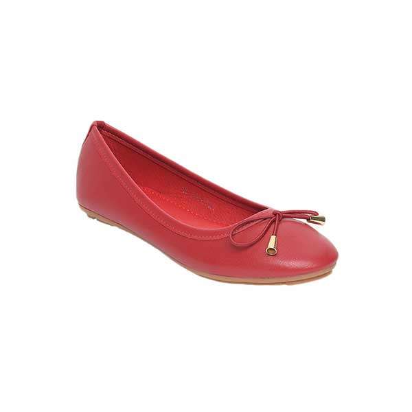 Giày nữ búp bê mũi tròn đính nơ SGA811-36ERE