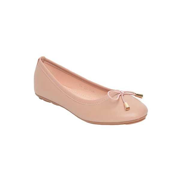 Giày bệt đính nơ hồng SGA811-36EPI