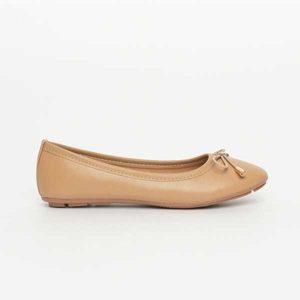Giày bệt búp bê nơ mầu nâu SGA811-36EBR