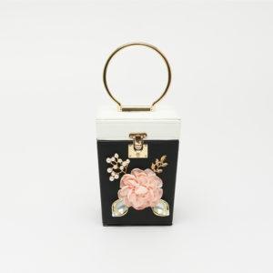 Túi xách nhỏ đính hoa dạng hộp vuông STSY6808BW