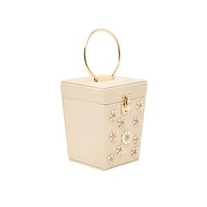 Túi xách tay nữ nhỏ đính hoa đá STSY6808AP