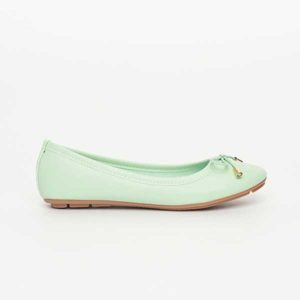 Giày bệt nơ mũi tròn xanh bạc hà SGA811-36EGR