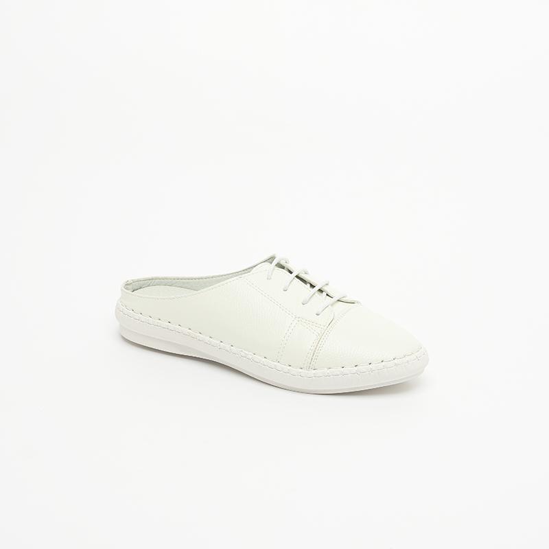 Giày lười nữ buộc dây hở gót độn đế SGBE4289-11WH