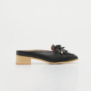 Giày lười nữ hở gót nơ tua rua SGBE1199-8BA