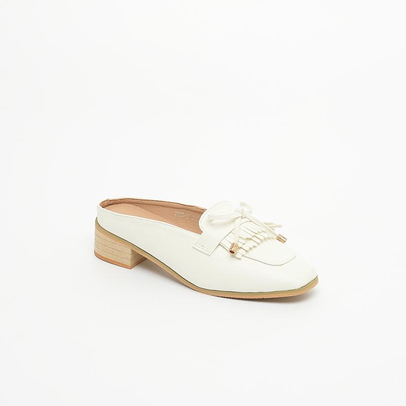 Giày nữ cao gót đế vuông hở gót SGBE1199-8WH