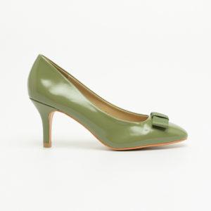 Giày cao gót nữ da bóng đính nơ SG314-1AGR