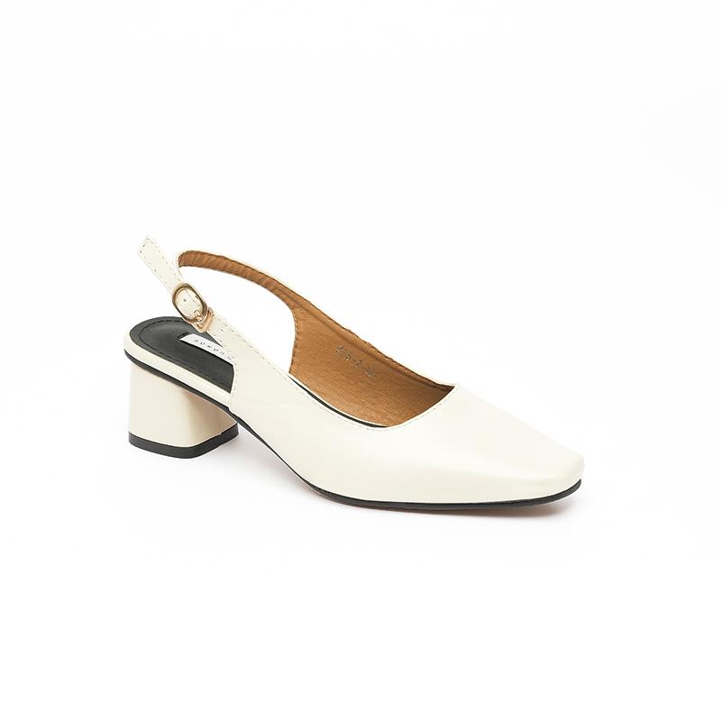 Giày cao gót mũi vuông quai cài SG755-2WH