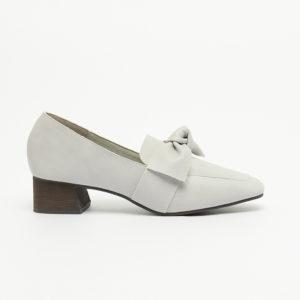 Giày nữ Loafer cao gót buộc nơ cách điệu SGS2018-1PU