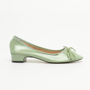 Giày nữ búp bê cao gót da trơn bóng SG866-11GR