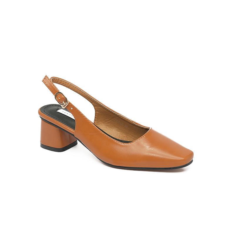 Giày Sandal mũi vuông gót vuông sành điệu SG755-2BR