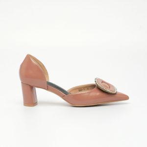Giày cao gót đế thô đính đá sang trọng SG988-18PI