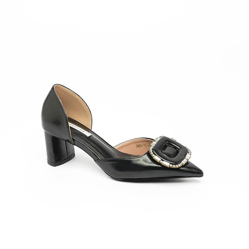 Giày cao gót mũi nhọn đính đá sang trọng SG988-18BA