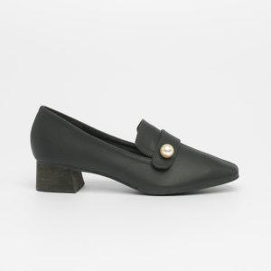 Giày cao gót ngọc trai Hàn Quốc SG2018-15 màu đen