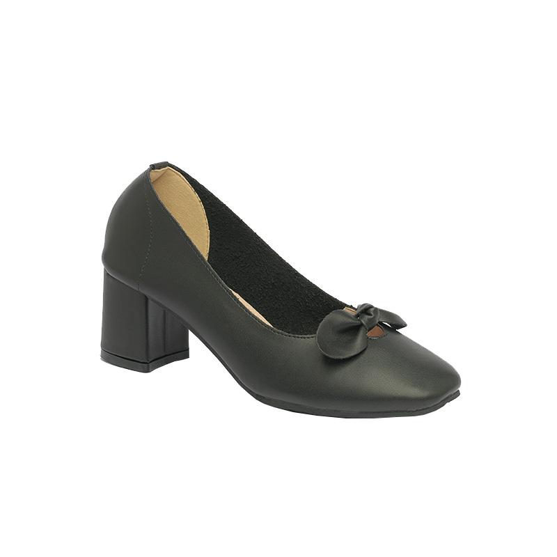 Giày cao gót nơ Hàn Quốc màu đen SGF815-14BA