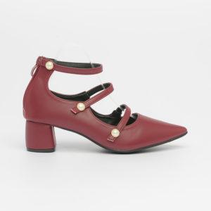 Giày cao gót quai ngọc trai tiểu thư SG1802-7 màu đỏ