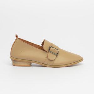 Giày lười êm chân Hàn Quốc màu be SG8888-1