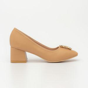 Giày cao gót đế thô đính đá cao cấp mũi vuông SG1610-10AP