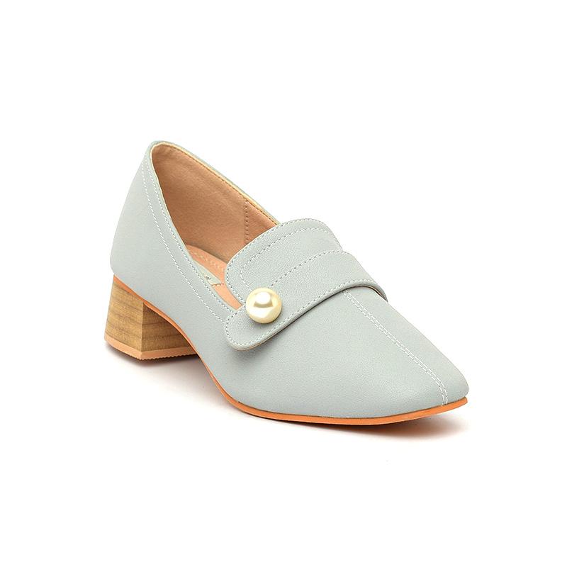 Giày cao gót ngọc trai sang trọng SG2018-15 màu xanh