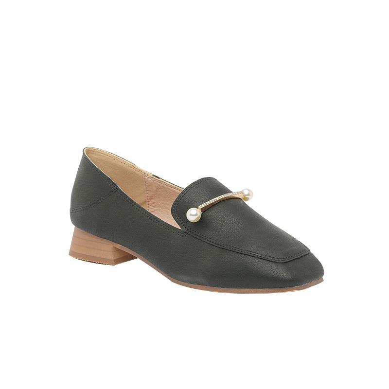 Giày Loafer cao gót Hàn Quốc đính ngọc trai xinh xắn SG1610-5
