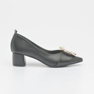 Giày nữ cao gót mũi đế vuông đính đá SG1802-10BA
